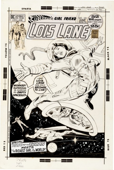 Superman's Girl Friend, Lois Lane issue 123 cover by Bob Oksner.  Source.