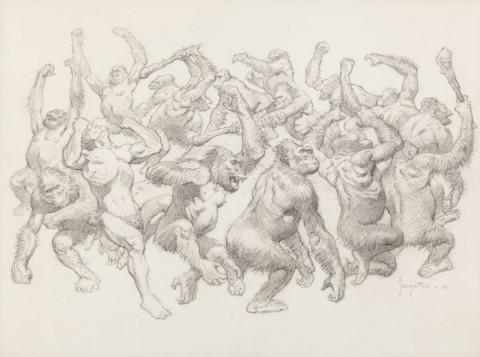 Tarzan and the Dance of the Dum-Dum by Frank Frazetta.  Source.