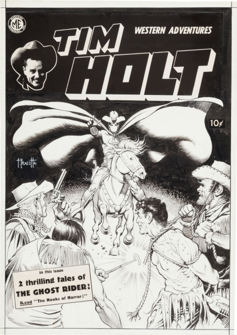 Tim Holt issue 17 cover by Frank Frazetta.  Source.