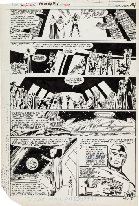 Uncanny X-Men issue 137 unused page 34 by John Byrne and Terry Austin.  Source.