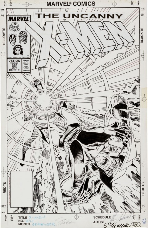 Uncanny X-Men issue 221 cover by Marc Silvestri and Dan Green.  Source.