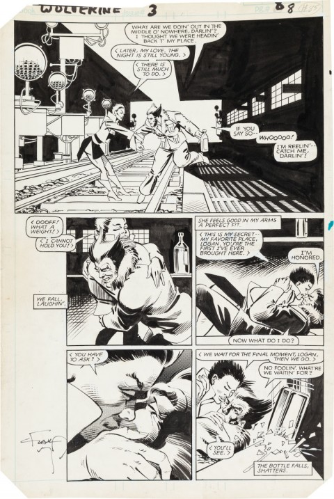 Wolverine issue 3 page 8 by Frank Miller and Joe Rubinstein.  Source.
