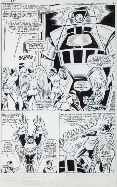 X-Men issue 22 page 2 by Werner Roth and Dick Ayers.  Source.