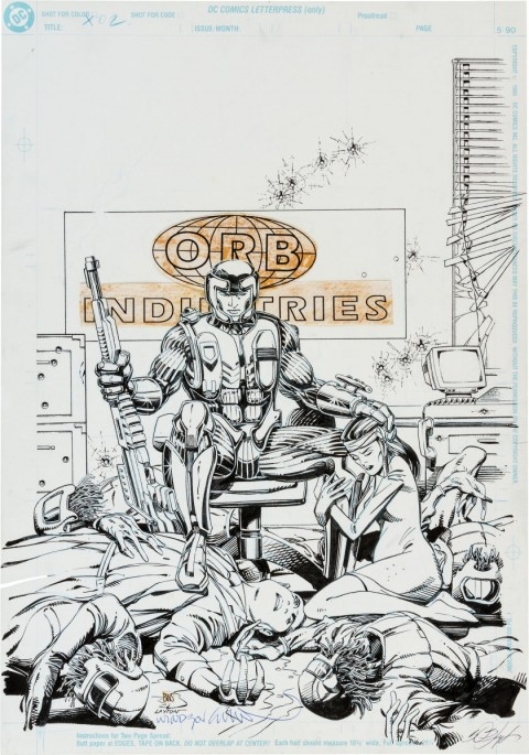 X-O Manowar issue 2 cover by Barry Smith and Bob Layton.  Source.
