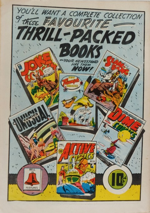 Back Cover for Red Hot Comics 3. Each of these titles contains full colour reprints of American Comics.