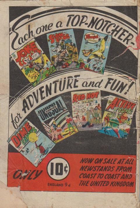 Terrific Comics 3 back cover