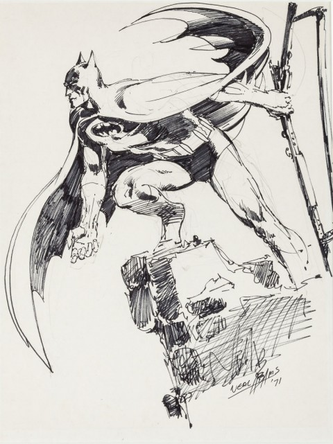 Batman by Neal Adams.  Source.