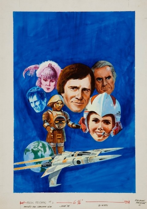 Crawford's original art for Gold Key Buck Rogers No. 2