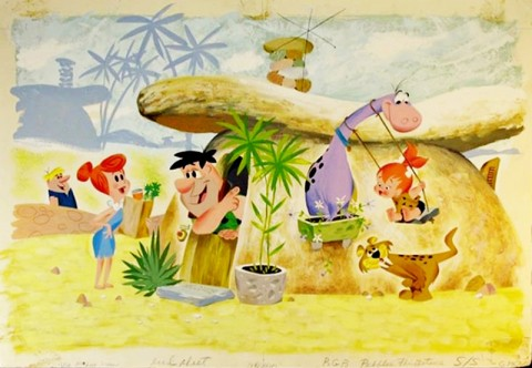 FLINTSTONES MEL CRAWFORD ORIGINAL ART
