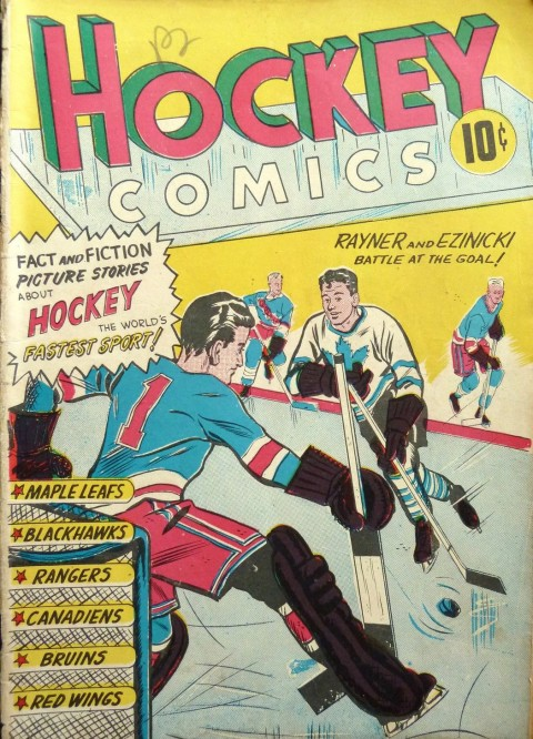 Hockey Comics an all original Canadian content book form Export publishers in 1949.