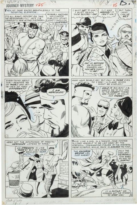 Journey Into Mystery 125 page 13 by Jack Kirby and Vince Colletta.  Source.