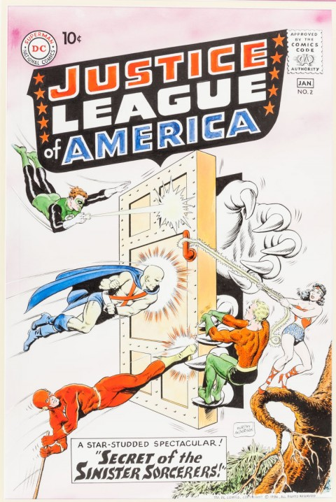 Justice League Of America issue 2 cover recreation by Murphy Anderson.  Source.
