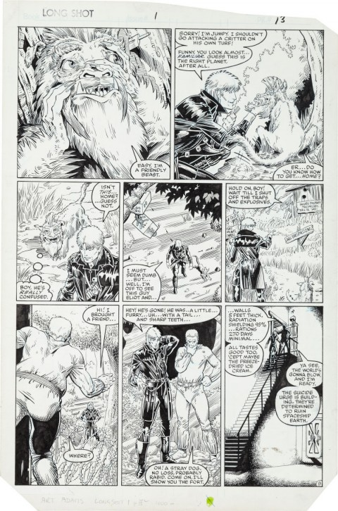 Longshot issue 1 page 9 by Arthur Adams and Whilce Portacio.  Source.