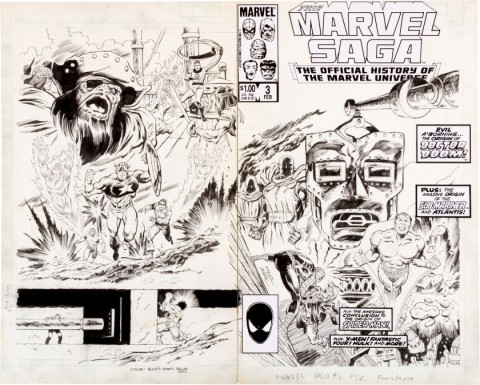 Marvel Saga issue 3 cover by Ron Frenz and John Byrne.  Source.