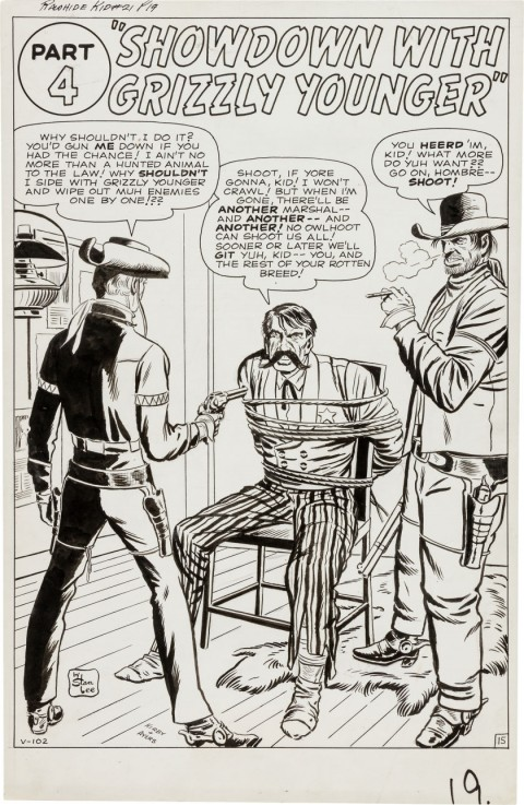 Rawhide Kid issue 21 splash by Jack Kirby and Dick Ayers.  Source.