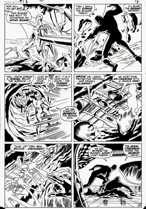 Silver Surfer issue 13 page 14 by John Buscema and Dan Adkins
