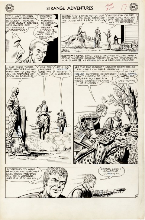 Strange Adventures issue 150 page 6 by Murphy Anderson.  Source.