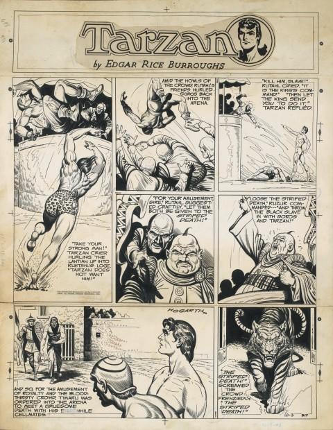 Tarzan 10-3-1948 by Burne Hogarth