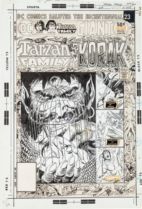 Tarzan Family issue 64 by Joe Kubert.  Source.