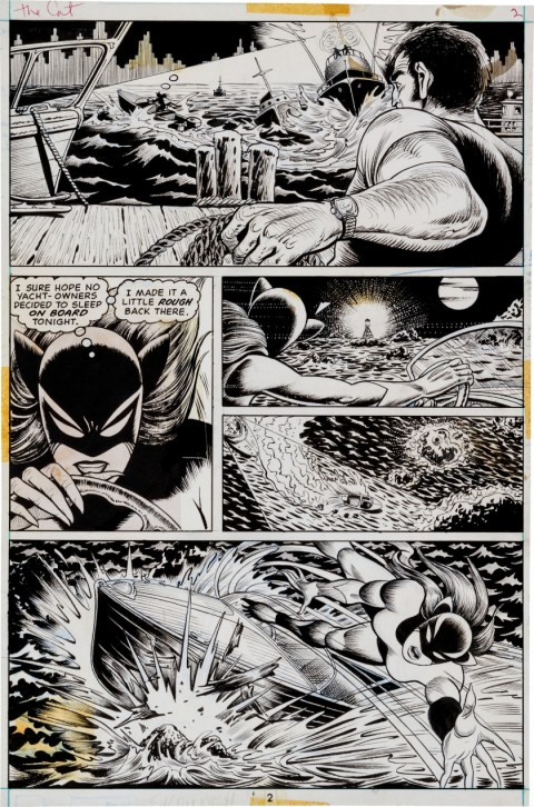 The Cat issue 3 page 2 by Paty Greer and Bill Everett.  Source.