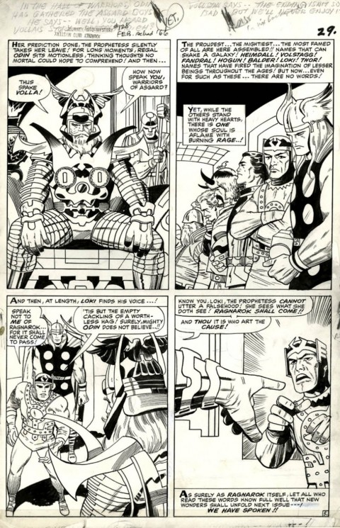 Thor issue 128 page 5 by Jack Kirby and Vince Colletta