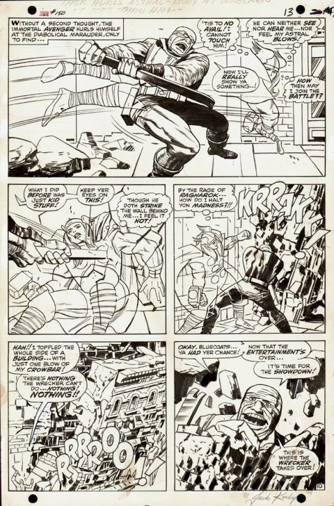 Thor issue 150 page 10 by Jack Kirby and Vince Colletta