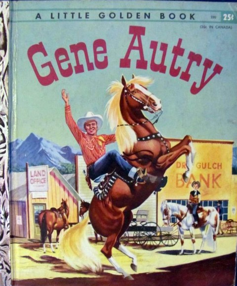 Gene Autry Golden Book cover