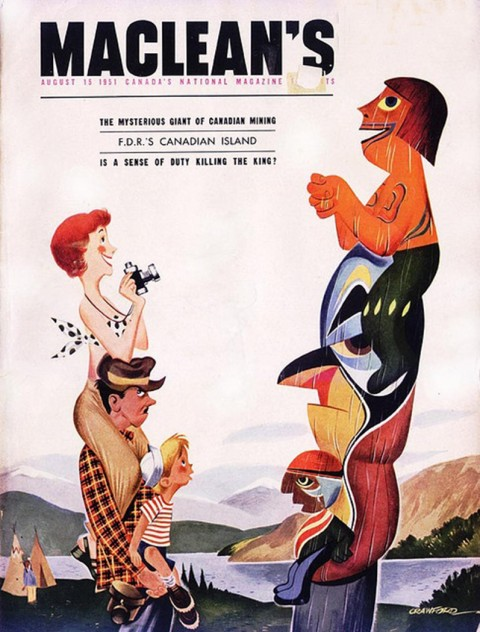 Crawford's cover for MacLean's Magazine in 1951