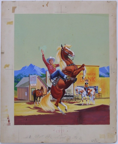 Crawford's original Gene Autry Golden Book cove art