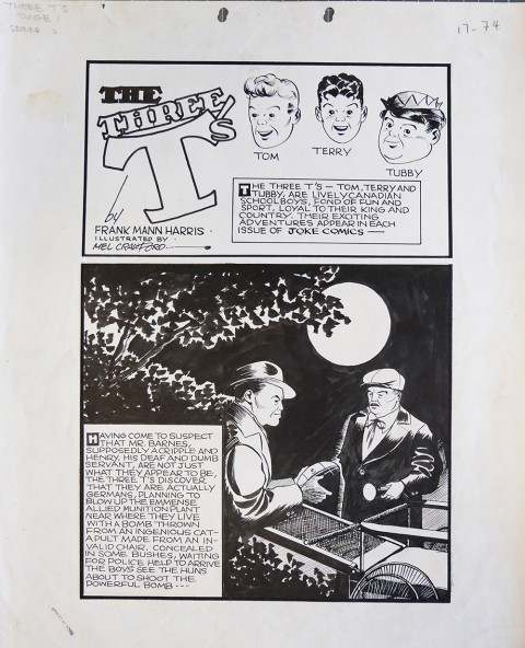 Crawford's splash from Joke Comics No. 2 done when he was 16