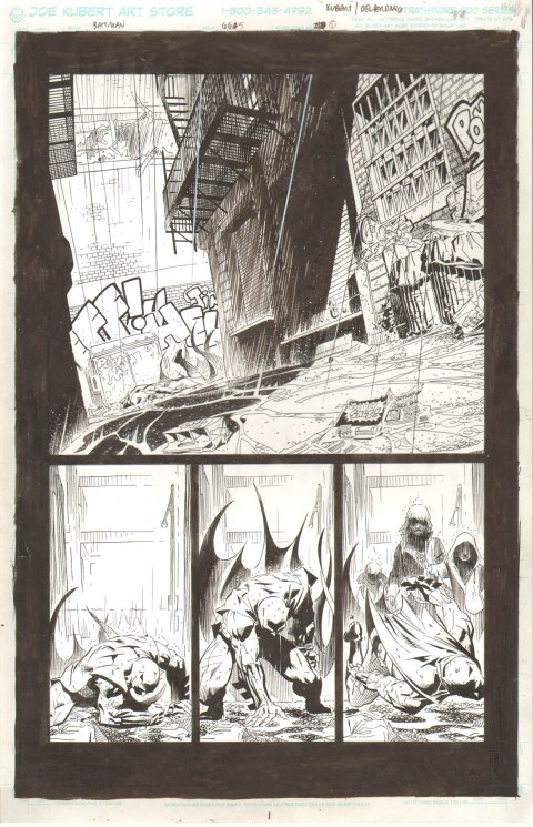Batman issue 665 page 1 by Adam Kubert and Jesse Delperdang