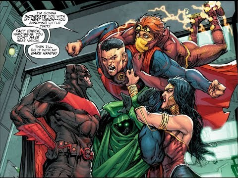 "A perfect example of the ""unconventional"" relationship shared between the New Old Justice League."