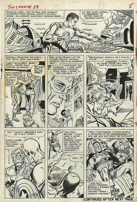 Tales Of Suspense issue 58 page 5 by Don Heck and Dick Ayers.  Source.