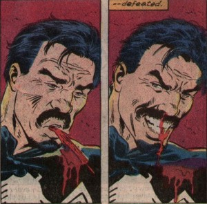 The moment Kraven realized he truly defeated the Spider and the man.