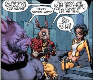 Captain K'Rot – The rabbit version of Rocket Raccoon.