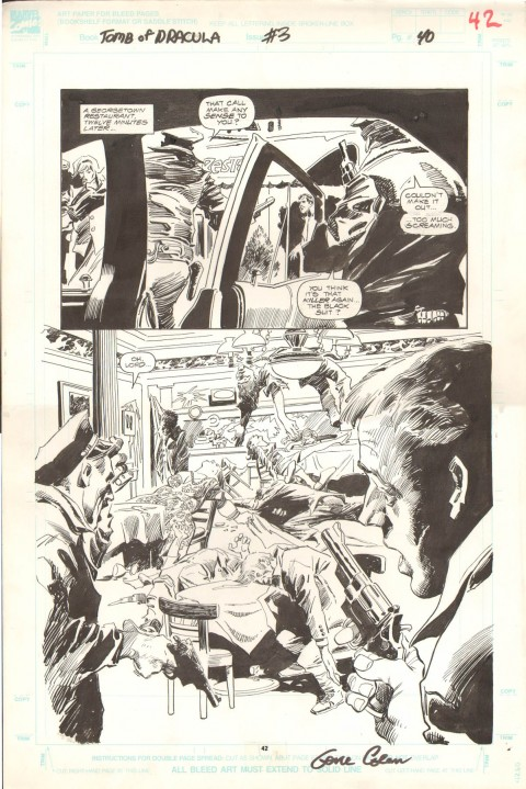 Tomb Of Dracula issue 3 page 40 by Gene Colan and Al Williamson