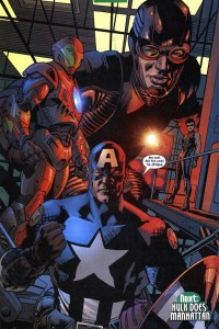 Cap employs the age old Avengers strategy: hit it until it drops.