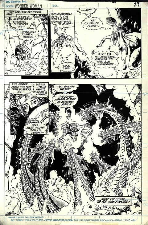 Wonder Woman issue 10 page 22 by George Perez and Bruce Patterson