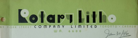 Rotary Litho letterhead.