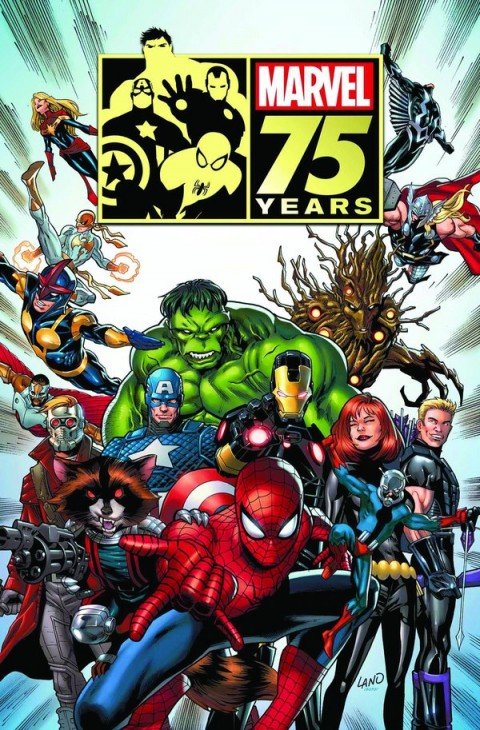 Notably missing from Marvel's 75 anniversary party are the X-Men, Fantastic Four... and the Sub-Mariner. In their place we've got the Guardians of the Galaxy.