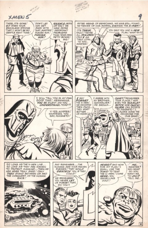 X-Men issue 5 page 9 by Jack Kirby and Paul Reinman.  Source.