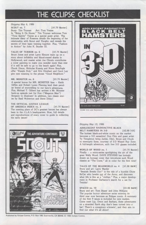 Eclipse Extra! No. 17 May 1986 Page 2