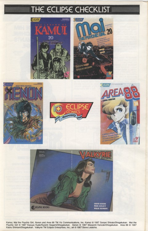 Eclipse Extra! No. 39 March 1988 Page 5