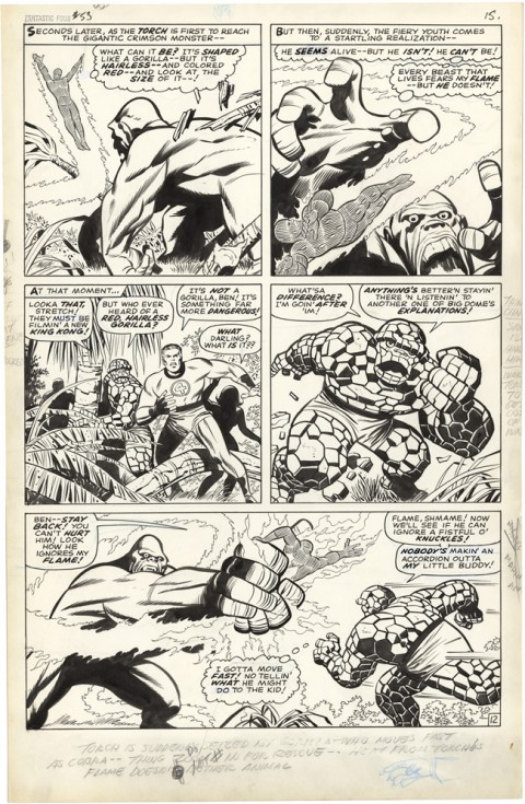 Fantastic Four issue 53 page 12 by Jack Kirby and Joe Sinnott.  Source.