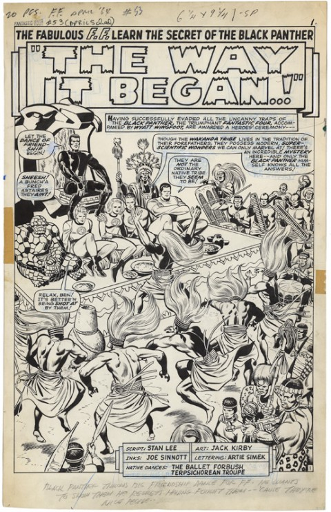 Fantastic Four issue 53 splash by Jack Kirby and Joe Sinnott.  Source.