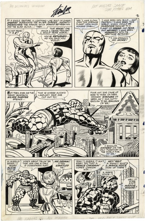 Fantastic Four issue 55 page 5 by Jack Kirby and Joe Sinnott.  Source.