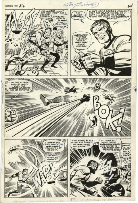 Fantastic Four issue 56 page 18 by Jack Kirby and Joe Sinnott.  Source.