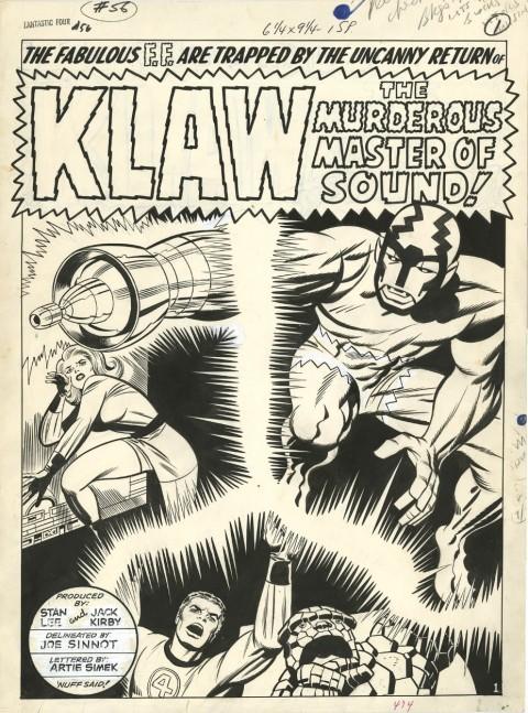 Fantastic Four issue 56 splash by Jack Kirby and Joe Sinnott.  Source.