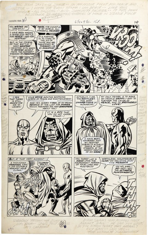 Fantastic Four issue 57 page 12 by Jack Kirby and Joe Sinnott.  Source.