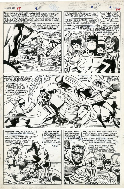 Fantastic Four issue 59 page 12 by Jack Kirby and Joe Sinnott.  Source.